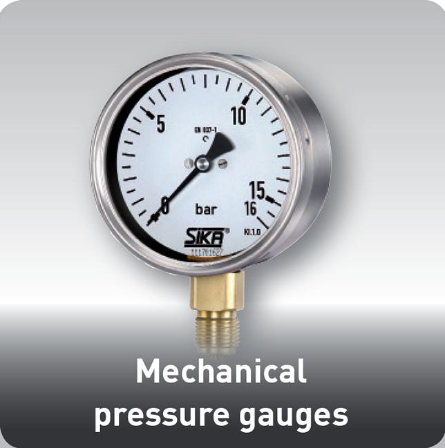 Pressure Measuring Instruments : Pressure gauge sika usa